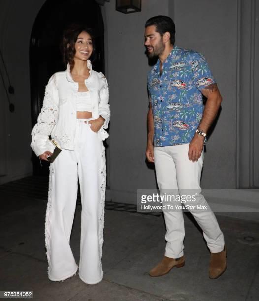 Cara Santana and Jesse Metcalfe are seen on June 14 2018 in Los Angeles California