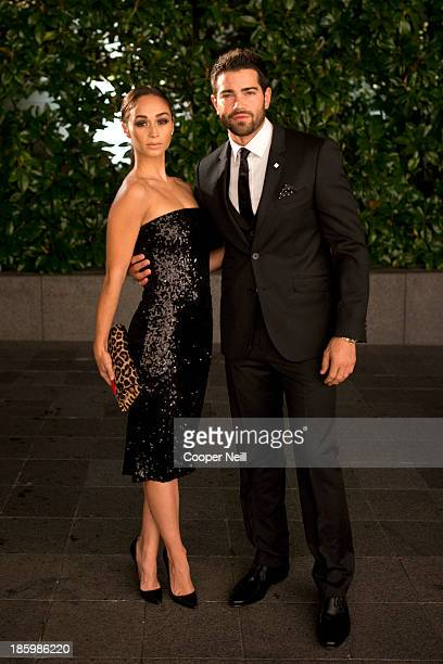 Cara Santana and Jesse Metcalfe arrive for the 2013 TWO x TWO for AIDS and Art Gala at the Rachofsky House on October 26 2013 in Dallas Texas
