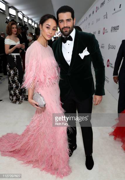 Cara Santana and Jesse Metcalfe attend the 27th annual Elton John AIDS Foundation Academy Awards Viewing Party sponsored by IMDb and Neuro Drinks...