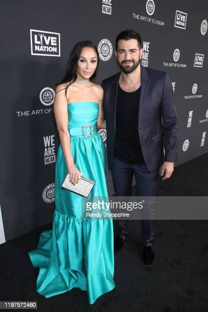 Cara Santana and Jesse Metcalfe attend The Art Of Elysium Presents WE ARE HEAR'S HEAVEN 2020 at Hollywood Palladium on January 04 2020 in Los Angeles...
