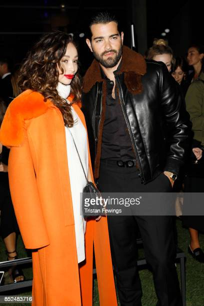 Cara Santana and Jesse Metcalfe attend the Salvatore Ferragamo show during Milan Fashion Week Spring/Summer 2018 on September 23 2017 in Milan Italy
