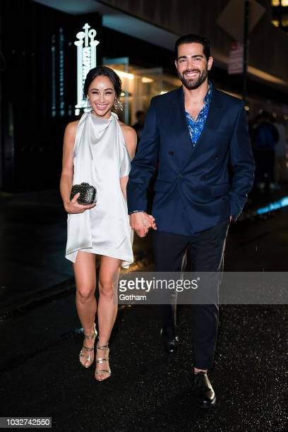 Cara Santana and Jesse Metcalfe attend Vanity Fair's BestDressed 2018 in the Financial District on September 12 2018 in New York City