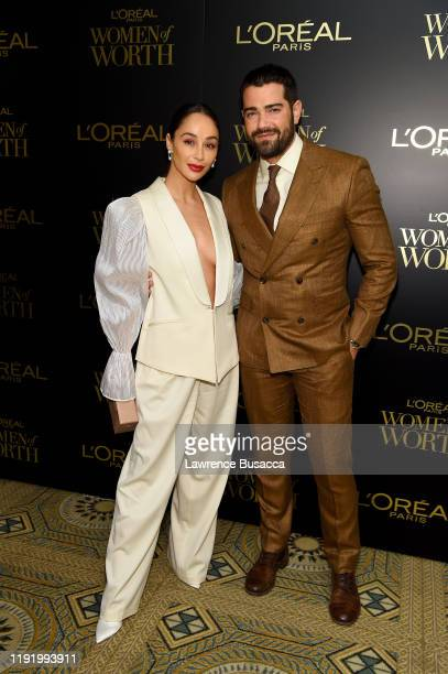 Cara Santana and Jesse Metcalfe attends the 14th Annual L'Oréal Paris Women Of Worth Awards at The Pierre on December 04 2019 in New York City