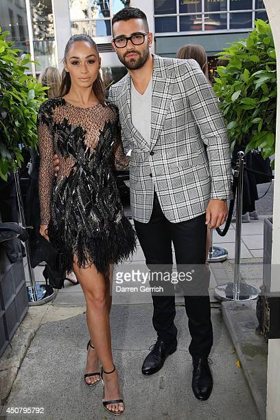 Cara Santana and Jesse Metcalfe attends the GQ and Dunhill party during the London Collections Men SS15 on June 17 2014 in London England