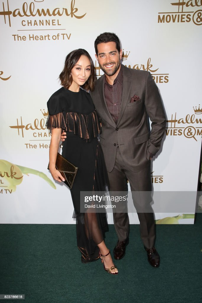 Cara Santana and Jesse Metcalfe attends the Hallmark Channel and Hallmark Movies and Mysteries 2017 Summer TCA Tour on July 27, 2017 in Beverly Hills, California.