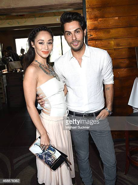 Cara Santana and Joey Maalouf attends The Glam App's Glamchella at the Petit Ermitage on April 7, 2015 in Los Angeles, California.