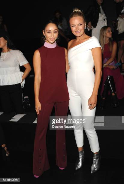 Cara Santana and Malin Akerman attend the Cushnie Et Ochs fashion show during New York Fashion Week The Shows at Gallery 1 Skylight Clarkson Sq on...