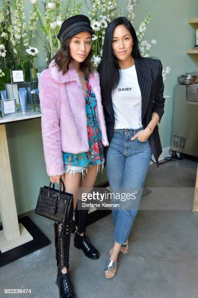 Cara Santana and Stephanie Shepherd attend Summer Fridays Skincare Launch With Marianna Hewitt Lauren Gores Ireland at Hayden on March 15 2018 in...