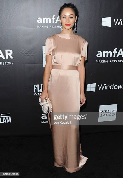 Cara Santana arrives at the 2014 amfAR LA Inspiration Gala at Milk Studios on October 29 2014 in Hollywood California
