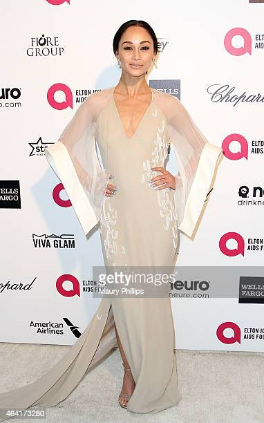 Cara Santana arrives at the 23rd Annual Elton John AIDS Foundation Academy Awards viewing party at The City of West Hollywood Park on February 22...