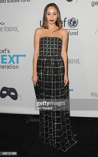 Cara Santana arrives at the UNICEF's Next Generation's 2nd Annual UNICEF Masquerade Ball on October 30 2014 in Los Angeles California