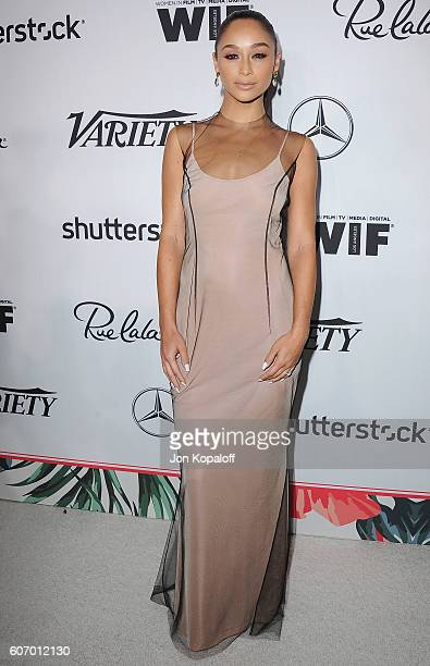 Cara Santana arrives at Variety And Women In Film's PreEmmy Celebration at Gracias Madre on September 16 2016 in West Hollywood California