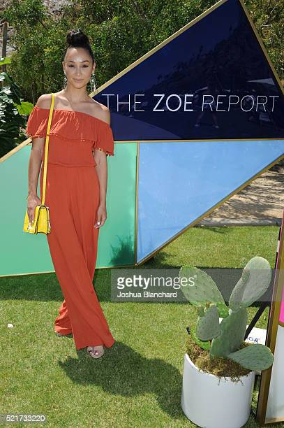 Cara Santana arrives at ZOEasis presented by The Zoe Report and Guess on April 16 2016 in Palm Springs California