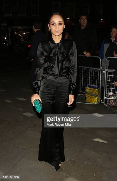 Cara Santana attending the The Brit Awards Warner Music Group After Party on February 24 2016 in London England