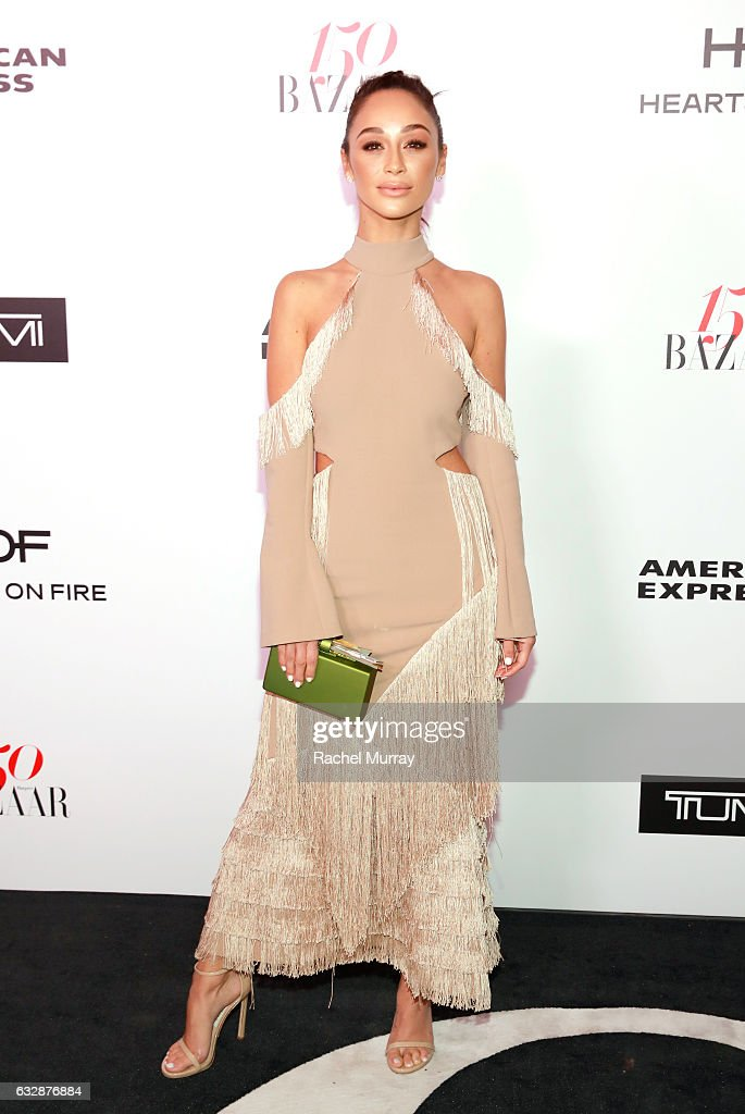 Cara Santana attends Harper's BAZAAR celebration of the 150 Most Fashionable Women presented by TUMI in partnership with American Express, La Perla and Hearts On Fire at Sunset Tower Hotel on January 27, 2017 in West Hollywood, California.