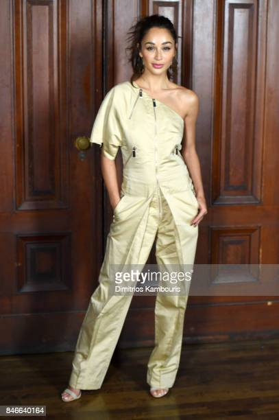 Cara Santana attends Marc Jacobs SS18 fashion show during New York Fashion Week at Park Avenue Armory on September 13 2017 in New York City