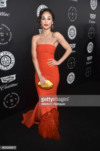 Cara Santana attends The Art Of Elysium's 11th Annual Celebration on January 6 2018 in Santa Monica California