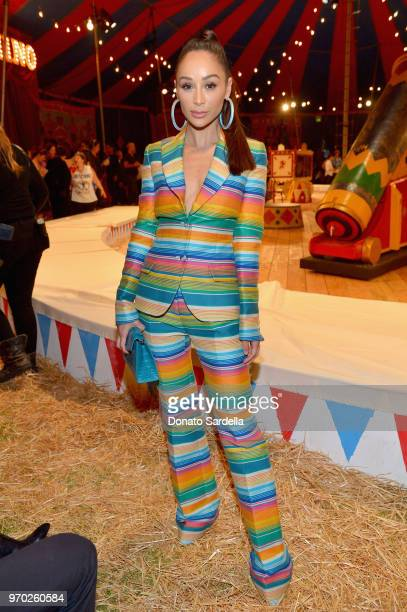 Cara Santana attends the Moschino Spring/Summer 19 Menswear and Women's Resort Collection at Los Angeles Equestrian Center on June 8 2018 in Burbank...