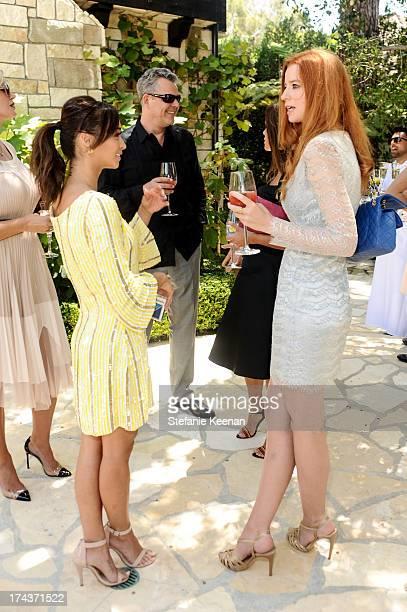 Cara Santana Danny Huston and Odessa Rae attend Lorena Sarbu Resort 2014 Luncheon at on July 24 2013 in Beverly Hills California
