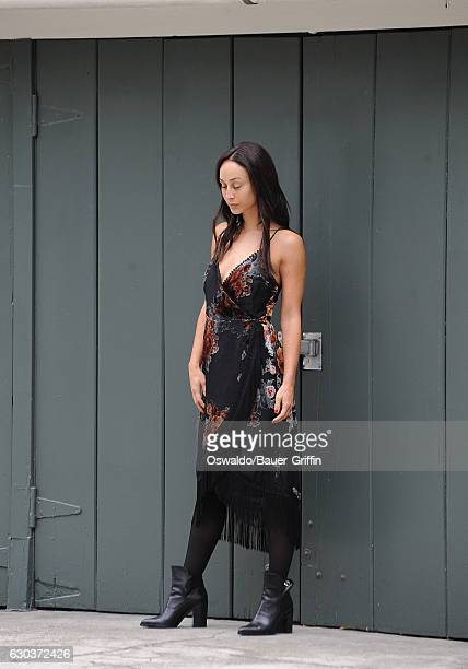 Cara Santana is seen posing for a photo shoot on December 21 2016 in Los Angeles California