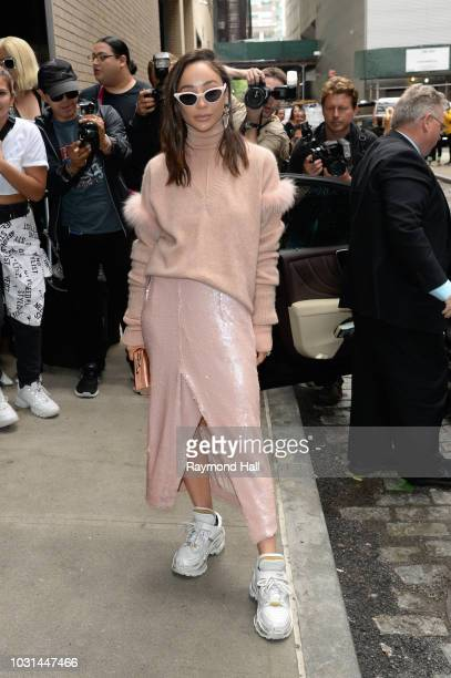 Cara Santana is seen walking in soho on September 11 2018 in New York City