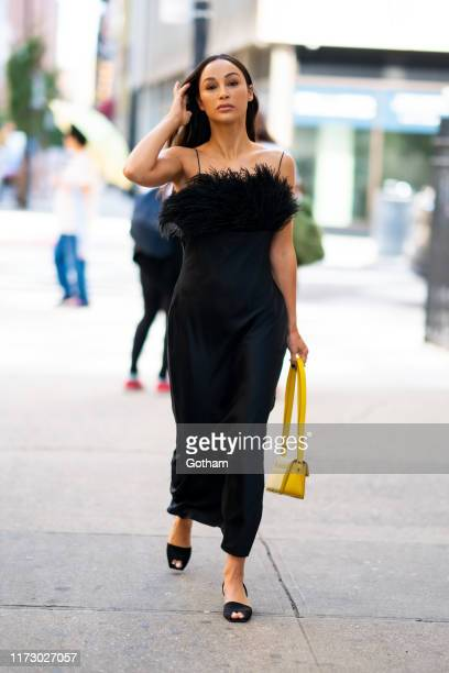 Cara Santana is seen wearing Cinq a Sept in the Lower East Side on September 07 2019 in New York City
