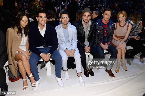 Cara Santana Jesse Metcalfe Joe Jonas Steven Taylor Colton Haynes and Bella Thorne attend the Lacoste fashion show during MercedesBenz Fashion Week...