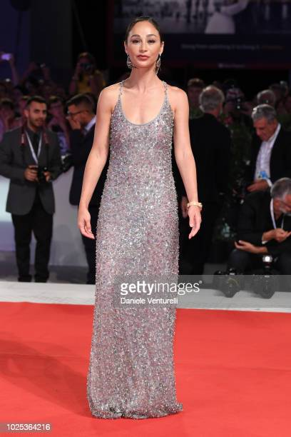 Cara Santana walks the red carpet ahead of the 'The Favourite' screening during the 75th Venice Film Festival at Sala Grande on August 30 2018 in...