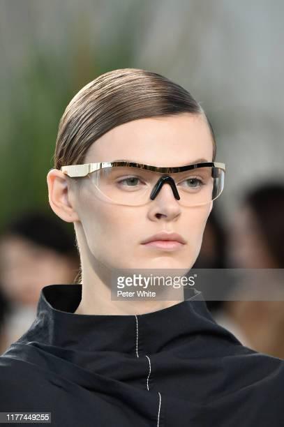 Cara Taylor, fashion detail, walks the runway during the Loewe Womenswear Spring/Summer 2020 show as part of Paris Fashion Week on September 27, 2019...