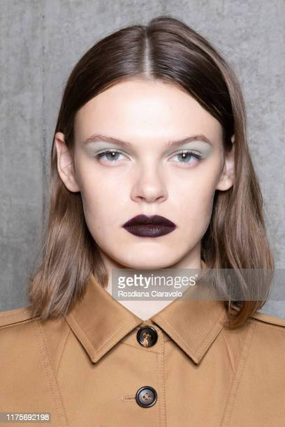 Cara Taylor poses during the backstage for Max Mara fashion show during the Milan Fashion Week Spring/Summer 2020 on September 19 2019 in Milan Italy