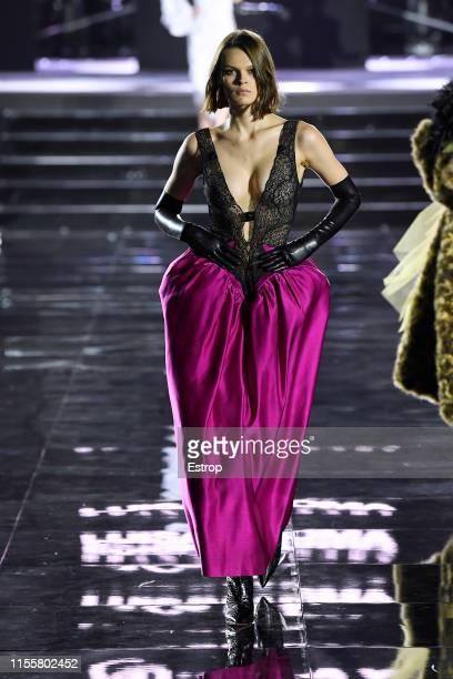 Cara Taylor walks the CR Runway x LuisaViaRoma at Piazzale Michelangelo during the Pitti Immagine Uomo 96 on June 13 2019 in Florence Italy