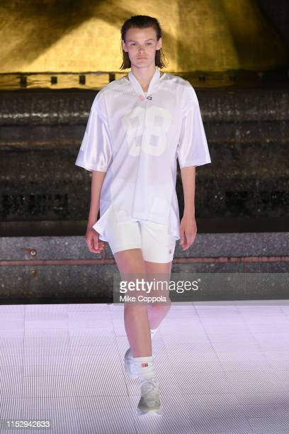 Cara Taylor walks the runway during the Alexander Wang Collection 1 fashion show at Rockefeller Center on May 31, 2019 in New York City.