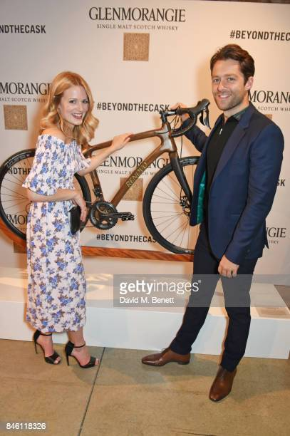 Cara Theobold and Richard Rankin attend the launch of the 'Beyond The Cask' collaboration between Glenmorangie and Renovo at Behind The Bikeshed on...