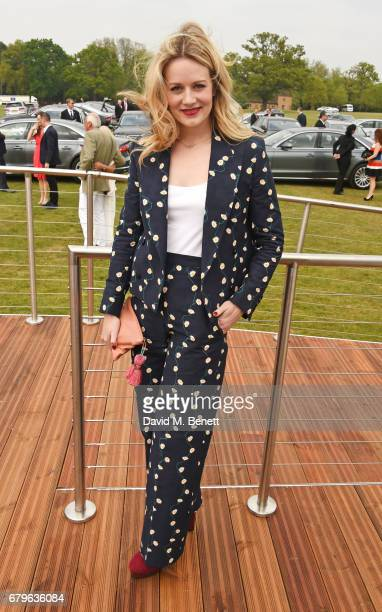 Cara Theobold attends the Audi Polo Challenge at Coworth Park on May 6 2017 in Ascot United Kingdom