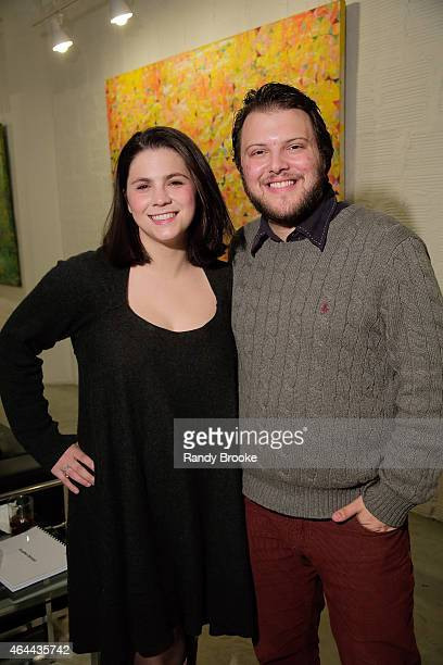 Cara Trabucco with the Manager of Acquisitions for FilmRise Max Einhorn attend FilmRise Celebrates new office in Industry City Brooklyn at FilmRise...