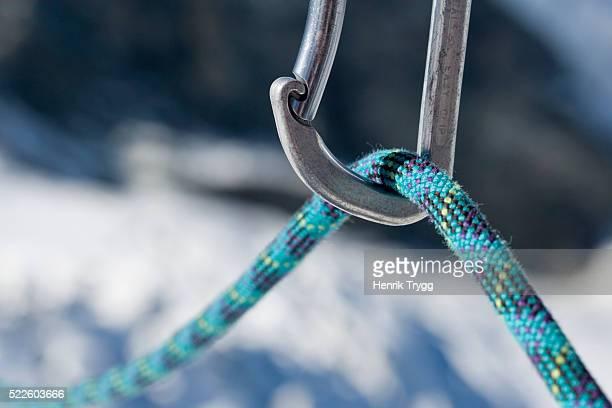 Carabiner and Climbing Rope