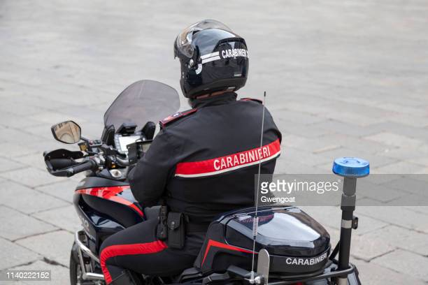 carabinieri biker - gwengoat stock pictures, royalty-free photos & images