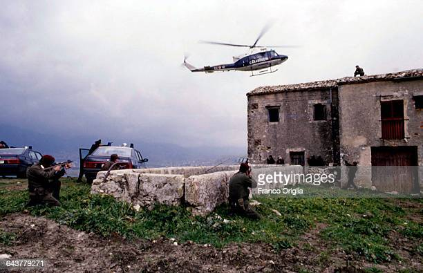 Carabinieri execute an antimafia operation after receiving information from the Cosa Nostra repentants Francesco Marino Mannoia and Tommaso Buscetta...