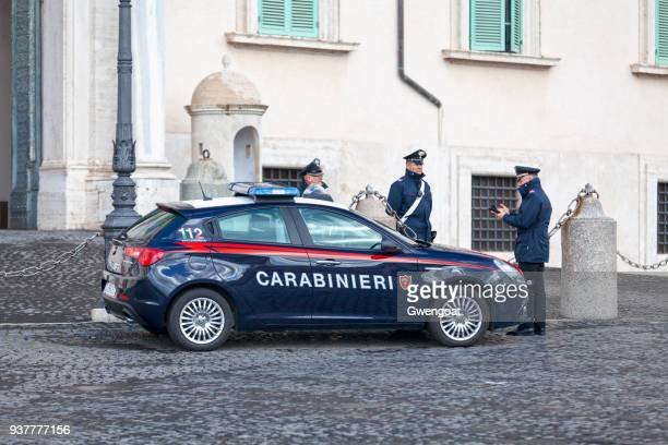 Carabinieri officers outside the Quirinal Palace
