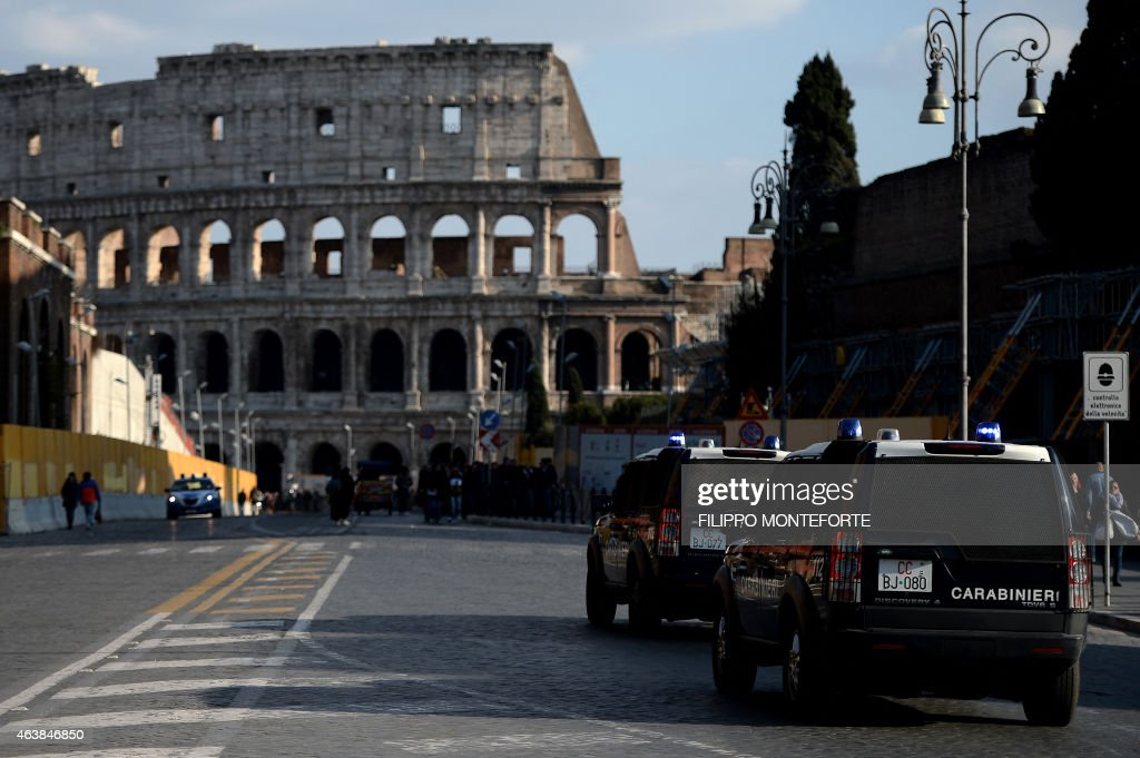 ITALY-SECURITY-COLOSSEUM : News Photo