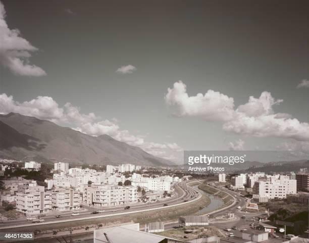 Caracas, capital of Venezuela, on the River Guaire, circa 1960.