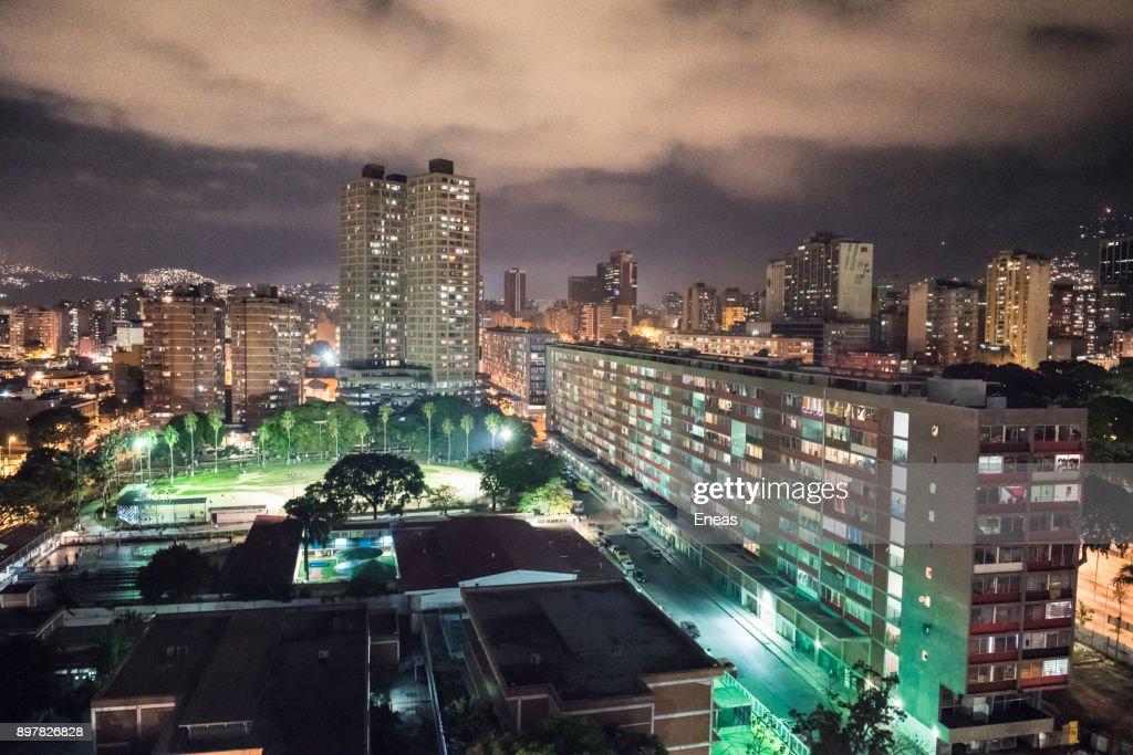 Caracas de noche : Stock-Foto