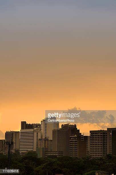 caracas sunset - caracas stock pictures, royalty-free photos & images