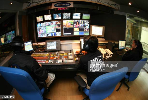 Television operators of Radio Caracas Television make the final edition of a news program in Caracas on May 24th 2007 On Sunday President Hugo Chavez...