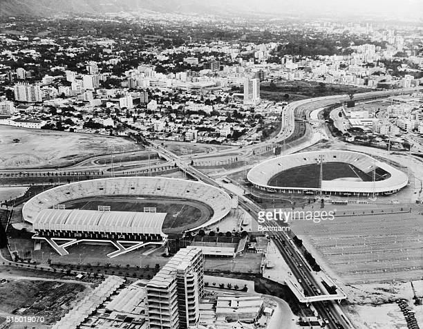 View of Caracas The capital of Venezuela Caracas is shown in a 1963 panoramic view In the center are the twin towers of the Simon Bolivar Center Here...