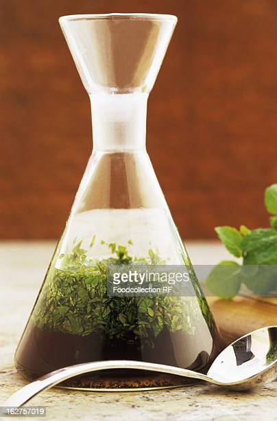 Carafe of mint sauce