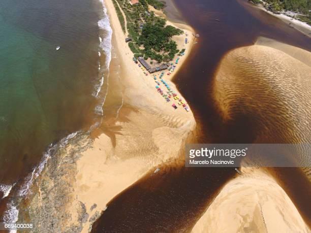 caraiva , bahia , brazil - vista aérea stock pictures, royalty-free photos & images