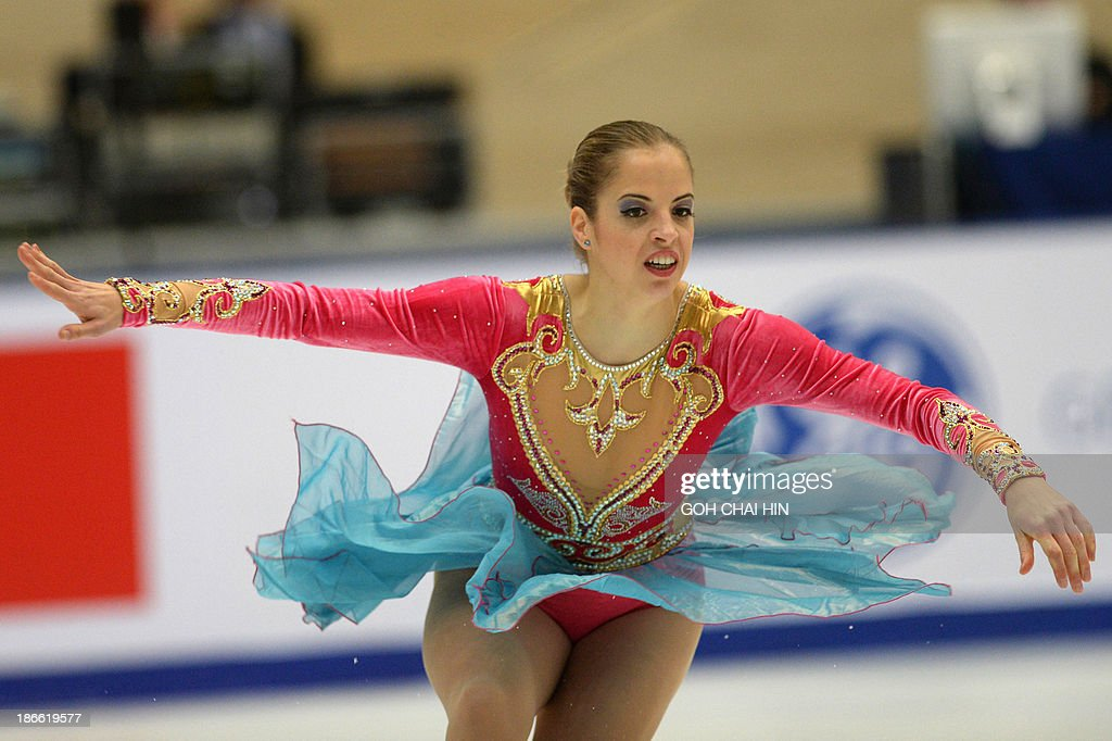 Caralina Kostner of Italy performs during the women's Free Skating event of the Cup of China ISU Grand Prix Figure Skating in Beijing on November 2, 2013. Kostner won third place with a total score of 173.40.