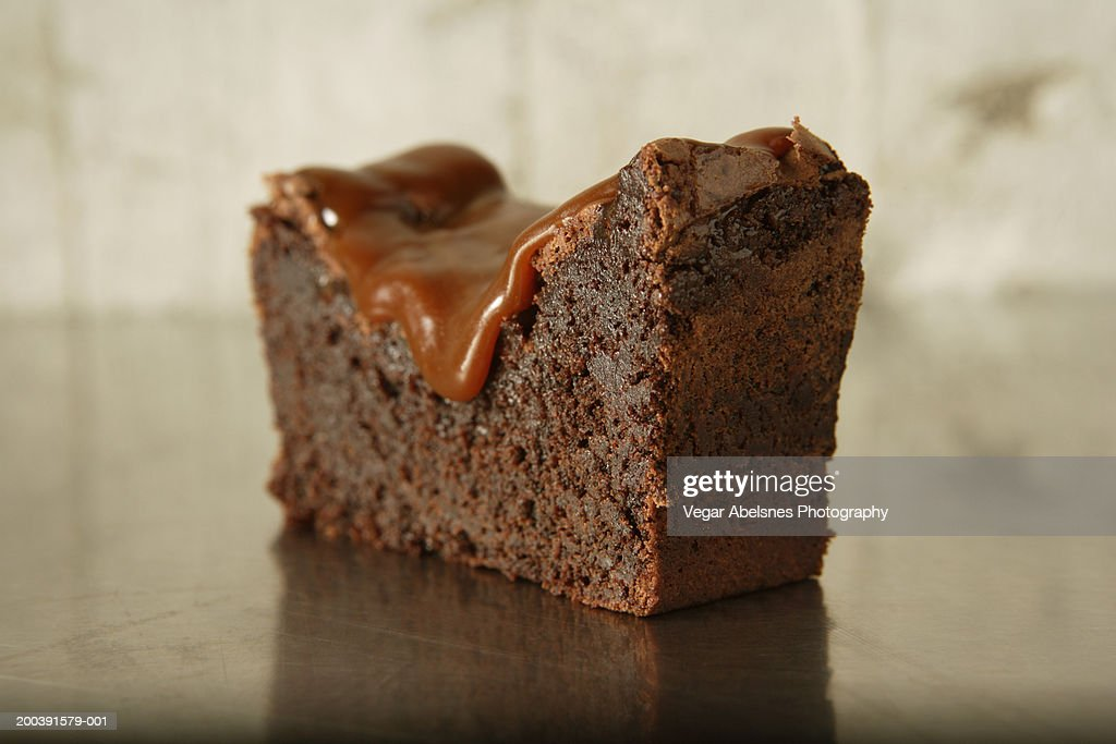 Caramel brownie : Stock Photo