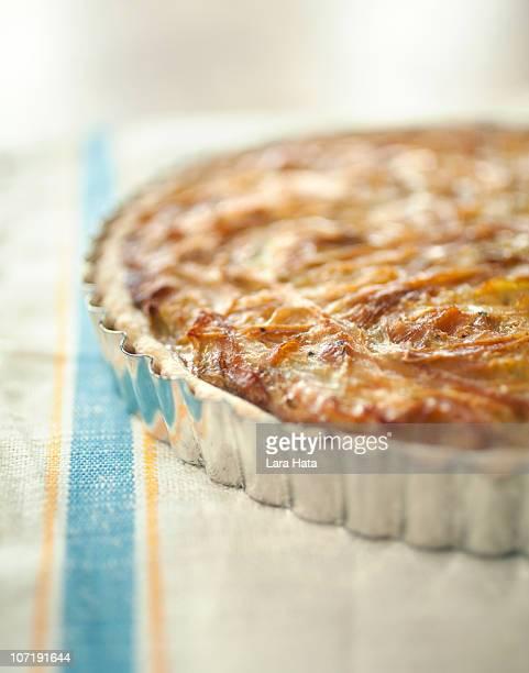 Caramelized onion and gruyere tart